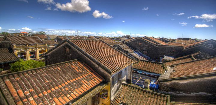 Hoi An roof of houses