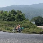 Riding Motorbike Over Hai Van Pass