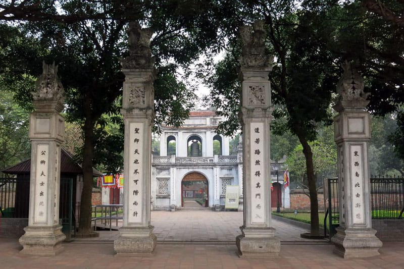 entrance gate to Temple of literature