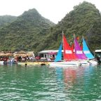 Yacht Sailing on Halong Bay